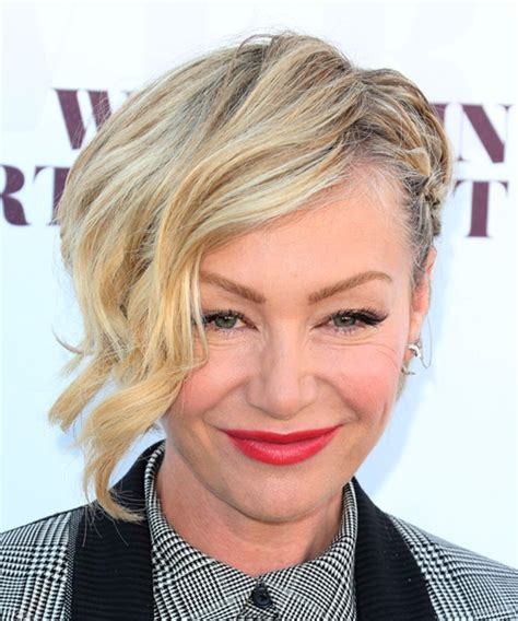 portia haircut portia de rossi short wavy formal half up hairstyle