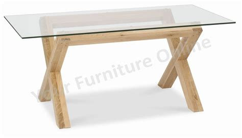 glass and oak dining table lyon washed oak glass top dining table
