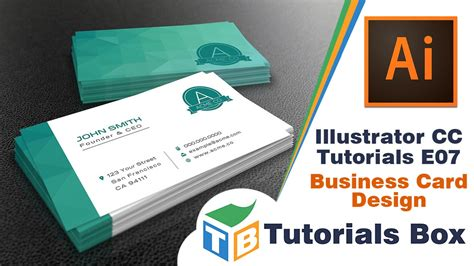 how to make business cards on illustrator illustrator cc tutorials e07 business card design
