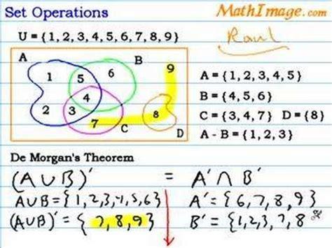 venn diagram set operations venn diagram set operations for de s theorem