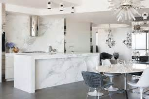 white marble for the kitchen and bathroom