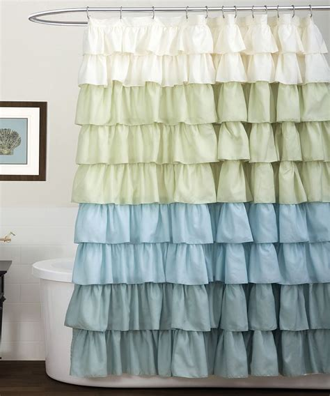 green ruffle shower curtain 25 best ideas about green shower curtains on pinterest