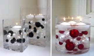 vases with floating candles and flowers images