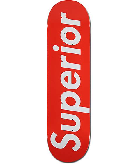 supreme boards superior white 8 375 quot skateboard deck at zumiez pdp