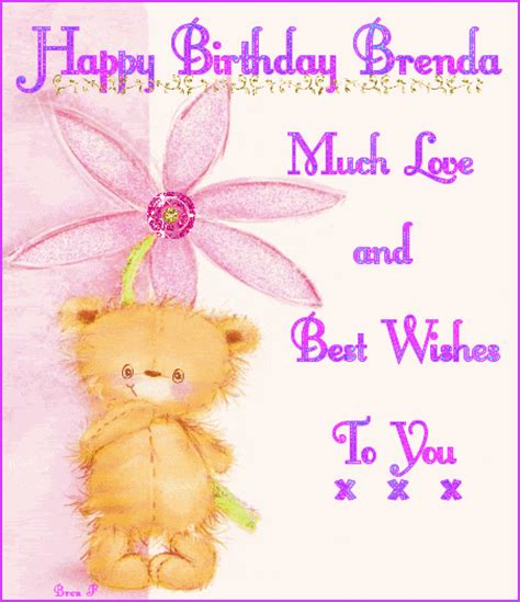 my best wishes to you happy birthday brenda much and best wishes to you