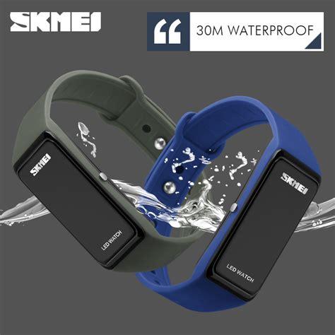 Jam Gelang Led 16 skmei wristband jam gelang led 1265a blue
