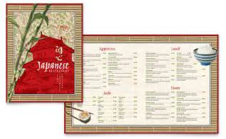 Restaurant Layout Templates by Japanese Restaurant Menu Template Design