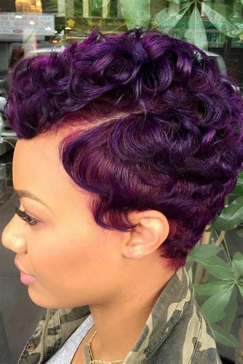 colorful short hair styles short colored hairstyles for black women