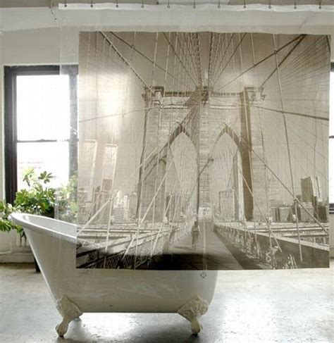 brooklyn bridge shower curtain shower curtains imprinted with famous world destinations