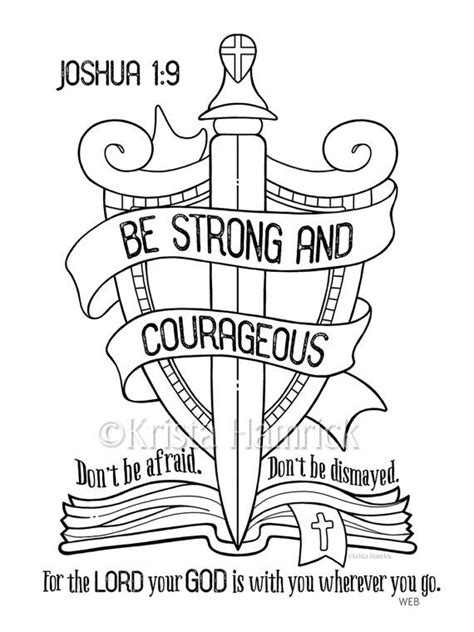 coloring book not free best 25 be strong and courageous ideas on