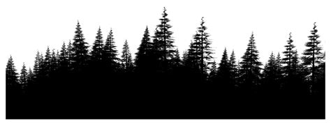 pine forest outline google search tattoo concepts