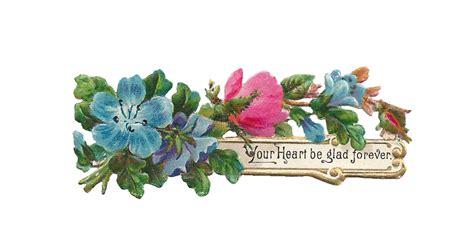 printable blue flowers antique images free digital flower label design