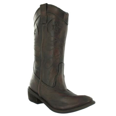 bronx 13323 g womens leather western cowboy boots brown