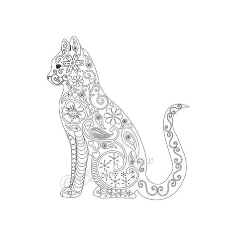 cat for adults blank coloring pages cats coloring pages