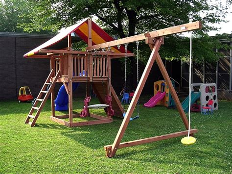 basic swing set swing set idea functional yards pinterest swings