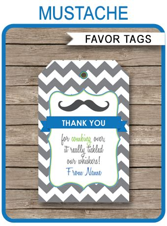 printable mustache gift tags mustache party favor tags thank you tags little man