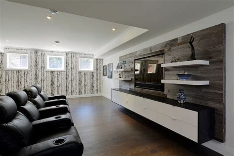 room and board media center toronto floating walls home theater contemporary with media wall seating framed artwork