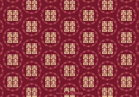 double happiness seamless pattern