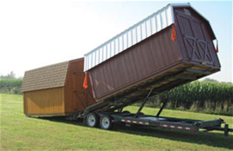 Shed Delivery Trailer by Delivery Options Beachy Barns