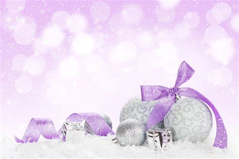 christmas tree baubles purple purple shatterproof
