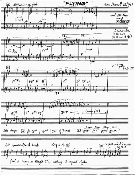 60s swing sheet alex s page bands compositions transcriptions