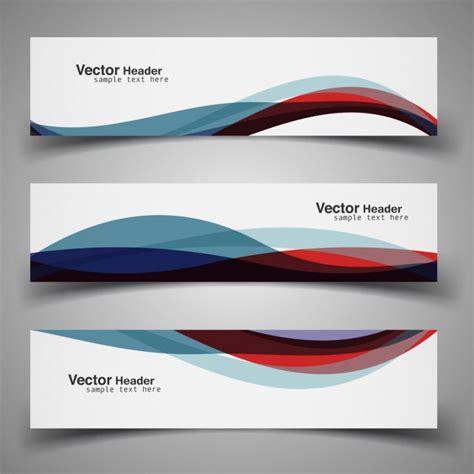 book header design vector colorful modern wavy header vector free download