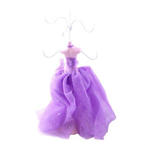 purple dress collection jewelry display holder figure
