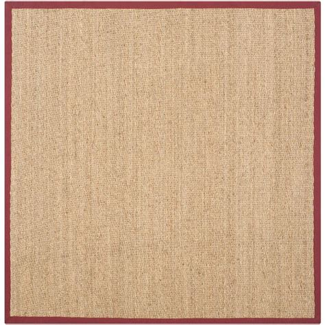 8 Foot Square Area Rugs Safavieh Fiber Beige 8 Ft X 8 Ft Square Area Rug Nf115d 8sq The Home Depot
