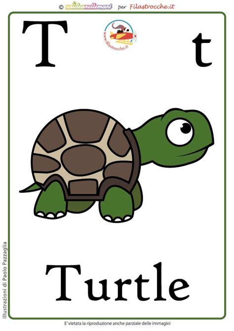schede lettere alfabeto schede alfabeto inglese da stare lettera t