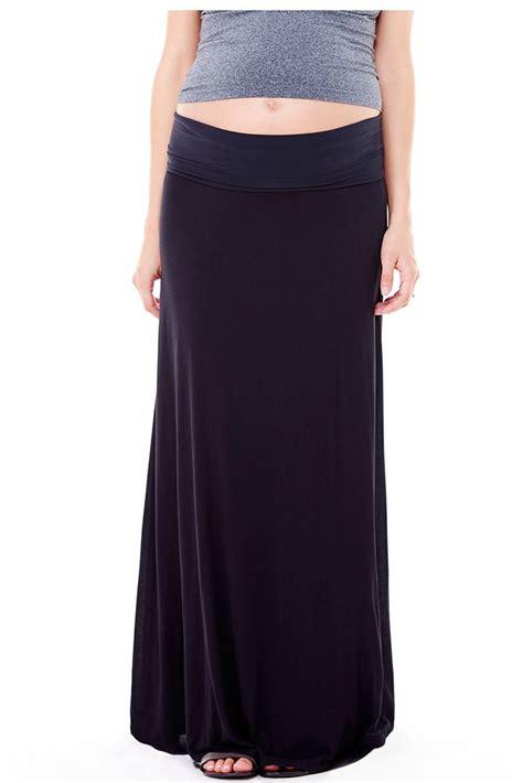 ingrid flowy maxi skirt in black