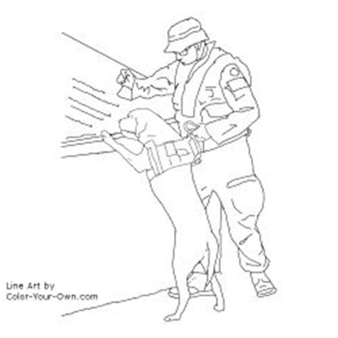 Army Dog Coloring Pages Sketch Page