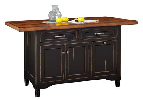 hardwood kitchen island three doors and two