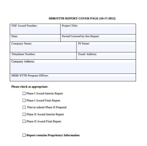 report title page template sle report cover page 7 documents in word pdf