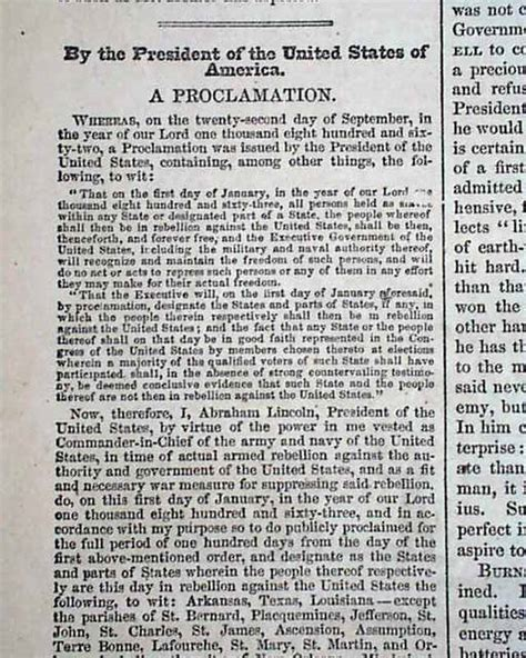 printable version of emancipation proclamation full text of the emancipation proclamation plus a winslow