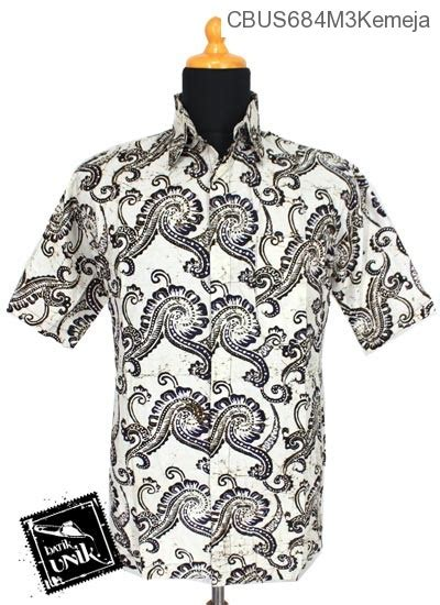 Kemeja Katun Sogan By Barosa Batik baju batik sarimbit kemeja pekalongan motif sogan putih