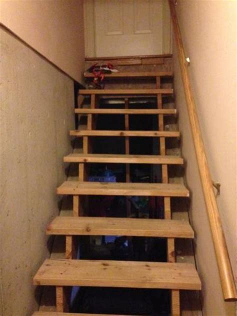 How To Remodel Basement Stairs by How To Finish These Basement Stairs Doityourself Com