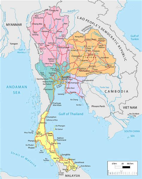 map thailand samui attractions places map of thailand koh samui hoh