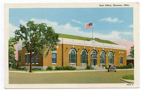 Office Supplies Norman Ok Buildings Architecture Vintage Postcard Post Office