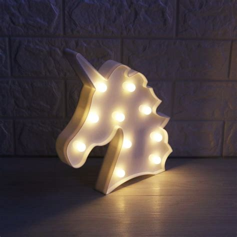 Lu Led Warm White lumiparty 3d unicorn marquee light with 10 warm white led