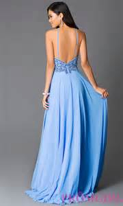 periwinkle color dress beaded open back blue prom dress promgirl