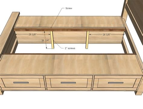 King Bed Frame With Drawers Plans King Size Bed Frame With Drawers Plans Woodworking Projects Plans