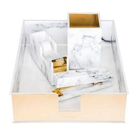 Russell And Hazel Acrylic Tape Dispenser I Office Luxe White Acrylic Desk