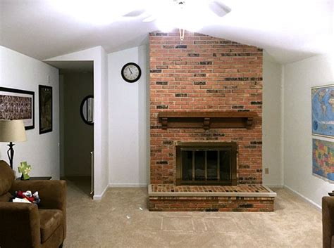 How To Remove Bricks From A Fireplace by Diy Project Fireplace Chimney Removal For A Nicer