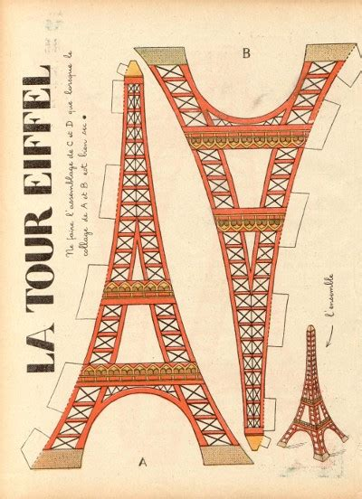 eiffel tower model template paper toys