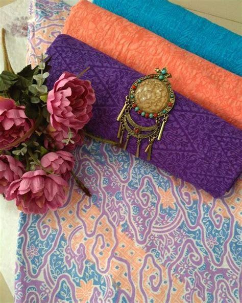 Batik Encim Soft Dan Kain Embos kain batik motif mega mendung soft kombinasi kain embos