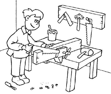 colorea tus dibujos maestras para colorear colorea tus dibujos dibujo de carpintero para colorear