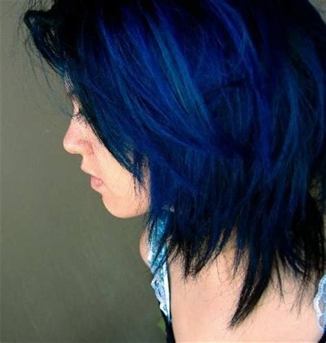 after midnight blue hair hair makeup