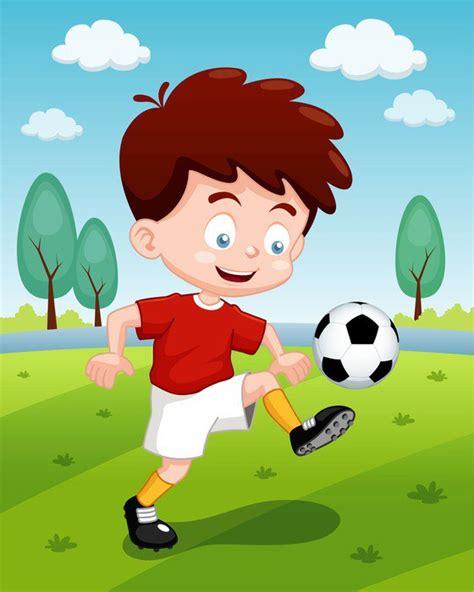 imagenes de niños jugando al futbol vinilo pixerstick ilustraci 243 n de dibujos animados ni 241 os