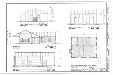 floor plan and elevation of a house file floor plan of original timber frame portion south