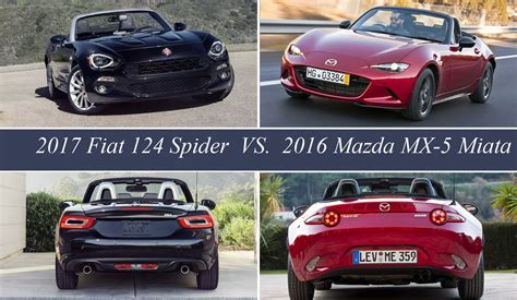 fiat spider vs miata fiat 124 spider vs mazda mx 5 miata picture 656897